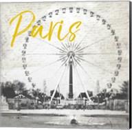 Roue De Paris Yellow Fine-Art Print