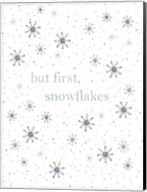 But First Snowflakes Fine-Art Print