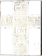 Text Cross Fine-Art Print