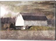 Rustic White Barn Scene I Fine-Art Print