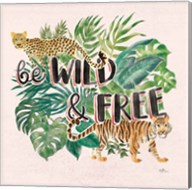 Jungle Vibes VII - Be Wild and Free Pink Fine-Art Print