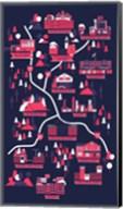 The Walking Dead Map Fine-Art Print