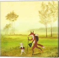 Master Lamb and His Painting Master Fine-Art Print