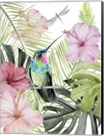 Hibiscus & Hummingbird II Fine-Art Print