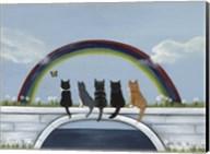 Rainbow Bridge Kitties Fine-Art Print