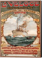 Italian Steamship Travel Ad 1893 Fine-Art Print