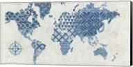 Indigo Gild Map Maki - No Border Fine-Art Print