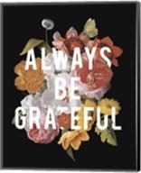 Floral Sentiment I Black Crop Fine-Art Print