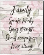 Family Speaks Kindly - Floral Fine-Art Print