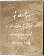 Family A Shoulder to Lean On - Gold Fine-Art Print