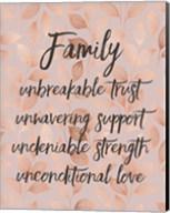 Family Unbreakable Trust - Pink Fine-Art Print