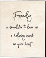 Family a Shoulder to Lean On - Cream Fine-Art Print