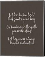 Let Love Be the Light - Black Fine-Art Print