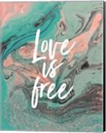 Love Is Free - Teal Fine-Art Print