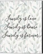 Family Is Love - Leaves Fine-Art Print