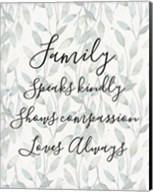 Family Speaks Kindly - Leaves Fine-Art Print