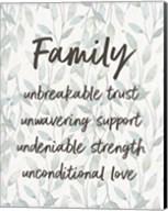 Family Unbreakable Trust - Leaves Fine-Art Print