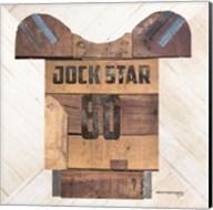 Vintage Sports Jock Star Football Fine-Art Print