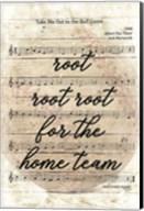 Vintage Baseball Sheet Music Fine-Art Print