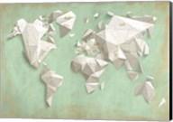 A Different World (Mint & Gold) Fine-Art Print