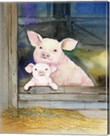 Farm Family Pigs Fine-Art Print