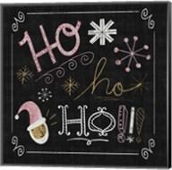 Quirky Christmas Santa Metallic Fine-Art Print