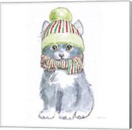 Christmas Kitties II Square Fine-Art Print