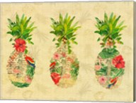 Triple Tropical Pineapple Collage Fine-Art Print