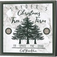 Taupe Christmas Sign I Fine-Art Print