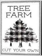 Tree Farm Buffalo Plaid Fine-Art Print