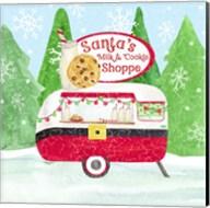 Food Cart Christmas IV Santas Milk and Cookies Fine-Art Print