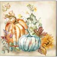 Watercolor Harvest Pumpkin I Fine-Art Print