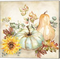 Watercolor Harvest Pumpkin II Fine-Art Print