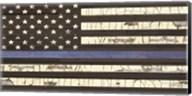Vintage Thin Blue Line Flag Fine-Art Print