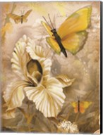 Flower & Butterflies I Fine-Art Print