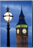 Europe, Great Britain, London, Big Ben Clock Tower Lamp Post Fine-Art Print