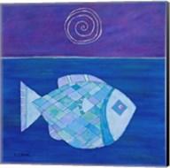 Fish With Spiral Moon Fine-Art Print