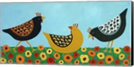 Hens and Poppies Fine-Art Print