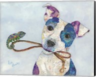 Jack Russell and Chameleon Fine-Art Print