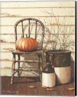 Pumpkin & Chair Fine-Art Print