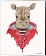 Rhino in a Raincoat Fine-Art Print