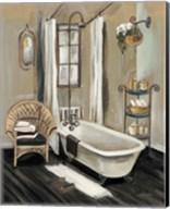 French Bath II Black v2 Fine-Art Print