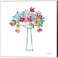 Floral Bathroom II Fine-Art Print