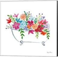 Floral Bathroom I Fine-Art Print