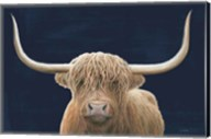 Highland Cow Navy Fine-Art Print