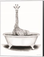 Giraffe in Tub Fine-Art Print