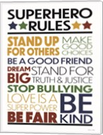 Superhero Rules Fine-Art Print