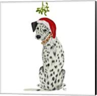 Christmas Des - Dalmatian Mistletoe Fine-Art Print