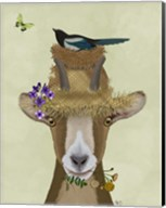 Goat In Straw Hat Fine-Art Print