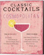 Classic Cocktails Cosmopolitan Pink Fine-Art Print